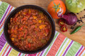 Chili con carne bowl Royalty Free Stock Photo