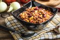 Chili con carne in a bowl. Royalty Free Stock Photo