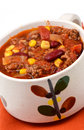 Chili con carne fait maison dans le format vertical Photos stock