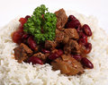 Chili con carne with rice Royalty Free Stock Photography