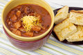 Chili and Cornbread Royalty Free Stock Photography