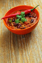 Chili with hot pepper Stock Photography