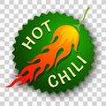 Chili pepper in fire Royalty Free Stock Photo