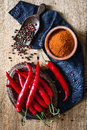 Chili pepper hot on the table Stock Images