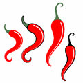 Chili pepper sign vector illustration eps alternate file cdr Royalty Free Stock Images