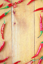 Chili peppers frame Royalty Free Stock Image