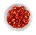 Chili in white bowl Royalty Free Stock Photo