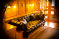 Chill out lounge with warm light a nice capture of an atmospheric setting Royalty Free Stock Photography