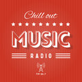 Chill out music radio retro poster for Stock Image