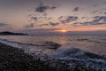 Chill Out Shoreline Sunset Royalty Free Stock Photo