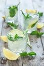 Chilled mint lemonade Royalty Free Stock Photo