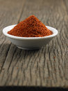 Chilli powder saucer full with Royalty Free Stock Photos