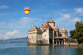 The chillon castle at lake geneva in switzerland Royalty Free Stock Photography