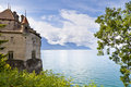 Chillon Castle in the Leman Riviera Royalty Free Stock Photo