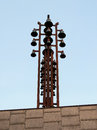 Chime bells on top of a building Royalty Free Stock Image