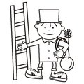 Chimney sweep, coloring book