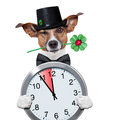 Chimney sweeper dog watch clock Royalty Free Stock Photo