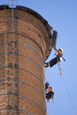 Chimney Workers Royalty Free Stock Image