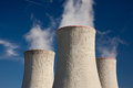Chimneys detail of powerplant cooling towers Stock Photos