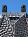 Chimneys and roof Royalty Free Stock Photo