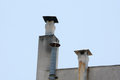 Chimneys on a roof top Royalty Free Stock Photo