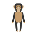 Chimp illustration of on white background Stock Photo