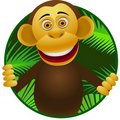 Chimpanzee cartoon Royalty Free Stock Photos