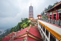 Chin Swee Caves Temple which is located at Genting Highlands,the tourists visiting and exploring around it. Royalty Free Stock Photo