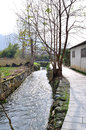China ancient village here is the pingshan it is in the south of in anhui province with the world cultural heritage in anhui hong Royalty Free Stock Images