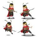 China Armor Warrior Character Set