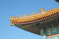 China. Beijijng. Chinese yellow temple roof Summer palace Royalty Free Stock Photo