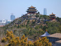 China Beijing cityscape-Jingshan Park Royalty Free Stock Images