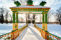 China bridge russian winter bidge in the alexander park pushkin tsarskoye selo Royalty Free Stock Image