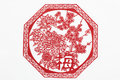 China cut paper by hand is a kind of folk craft circulating for a long time is to put the red into various animals and Stock Photography
