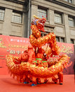 China dragon dances Stock Image