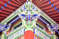 China element - colorful eave Stock Images