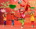China folk mask dances Stock Photo