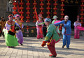 China folk performances in the picture is chinese dance performance of a scene Stock Photo