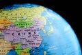 China in the Globe Royalty Free Stock Photo