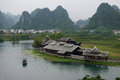 China guilin river and mount scenery famouse Royalty Free Stock Photos