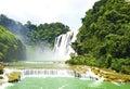 China Guizhou Huangguoshu Waterfall in Summer Royalty Free Stock Photo