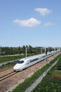 China high speed train the chinese running Stock Image