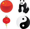 China Icons Royalty Free Stock Photo