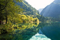China jiuzhaigou jiu zhaigou lake and mountains autumn Royalty Free Stock Photos
