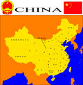 China map. Stock Photography