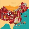 China map and travel.China landmark