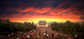 China nanjing dr sun yat sens mausoleum under the setting asia scenery Stock Image