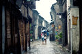 China old town and the whole street is rich flavor snacks and antique architecture shippo guzhen belong to jiangnan。in the taihu Royalty Free Stock Photography