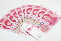 China one hundred  yuan Stock Image