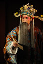 China opera man with long beard Stock Photography